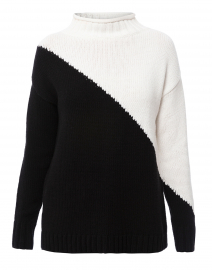 The Summit Black and White Cotton Sweater