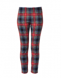 Black and Red Tartan Print Pull On pant