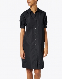 Lafayette 148 New York - Brennan Black Taffeta Shirt Dress