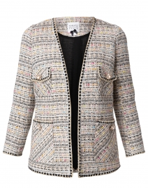 Beige, Black and Multi Tweed Jacket