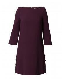Harlow Plum Wool Crepe Tunic Dress