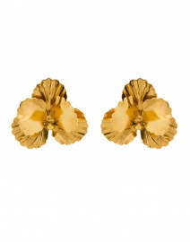 Pansy Gold Stud Earrings