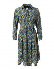 Fragola Multi Floral Print Silk Shirt Dress