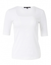 White Stretch Cotton Top