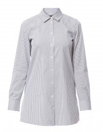 Quintin White and Black Striped Stretch Cotton Shirt