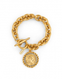 Constantine Gold Coin Chain Bracelet