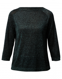 Milva Green Metallic Sweater