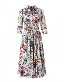 Aster Multi Botanical Print Cotton Musola Shirt Dress