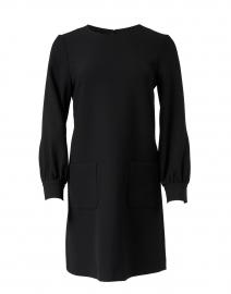 Rose Black Stretch Cotton Dress