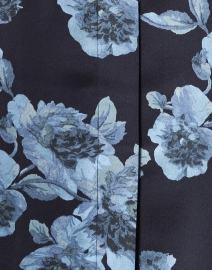 Vince - Blue Tapestry Floral Silk Blouse