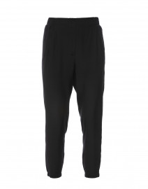 Raubert Black Silk Jogger Pant