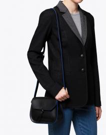 Alexandra de Curtis - Mini Black Leather Saddle Bag