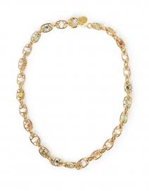 Alegria Gold and Multi Cabochon Chain Necklace