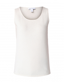 Vanilla Beige Cotton Sleeveless Tank