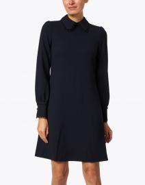 Jane - Marnie Dark Navy Wool Crepe Dress