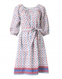Saisha Ecru Multi Print Cotton Dress