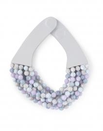 Bella Lavender Grey Tone Multistrand Necklace