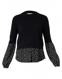 Ebbi Black Polka Dot Wool Cashmere Sweater