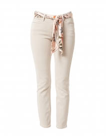 Paris Beige Cropped Jean