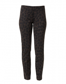 Brown and Black Animal Print Compact Knit Pant