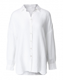120% Lino - White Linen Shirt