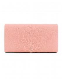 J Markell - Baby Grande Pale Pink Stingray Clutch