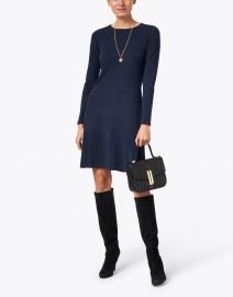 Kinross - Navy Cashmere Swing Dress