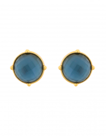 Honey Azure Blue Clip On Earrings
