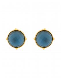 Honey Azure Blue Clip On Earrings