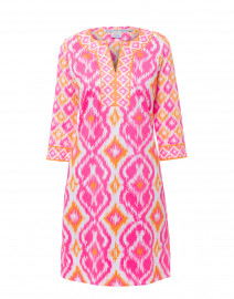 Kitt Pink Ikat Printed Jersey Dress