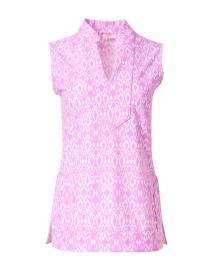 Keira Pink Diamond Ikat Printed Top