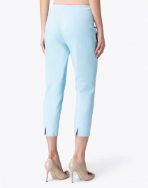 Leggiadro - Sky Blue Stretch Cotton Slim Fit Capri Pant