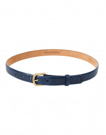 Pacific Blue Ostrich Belt