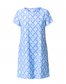 Ella Blue and White Printed Dress