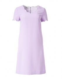 Lilac Scalloped Crepe Dress
