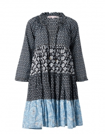 Sonia Blue and Black Floral Cotton Dress