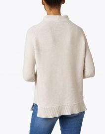 Kinross - Champagne Cotton Garter Stitch Sweater