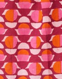 Banjanan - Alfreda Pink and Orange Geometric Cotton Voile Shirt