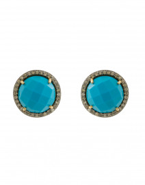Stef Turquoise Diamond Stud Earrings