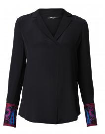 Maxima Black Silk Blouse