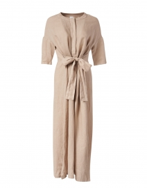 Arda Ecru Linen Dress