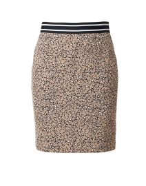 Beige Animal Print Stretch Skirt