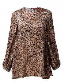 Antares Beige and Black Animal Print Top