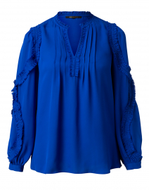 Esther Cobalt Silk Blouse