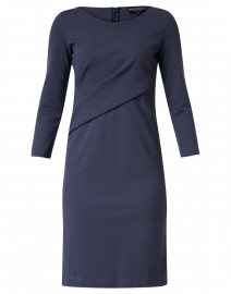 Navy Ruched Jersey Dress