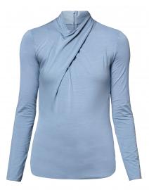 Pale Blue Criss Cross Jersey Top