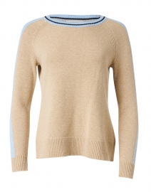 Camel Merino and Cotton Sweater