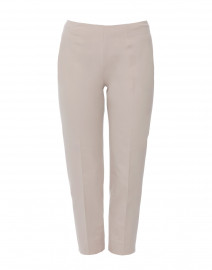 Audrey Pale Beige Stretch Cotton Capri Pant