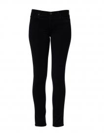Prima Black Corduroy Cigarette Leg Jean
