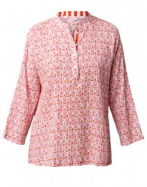 Ciara Pink Greta Floral Print Top